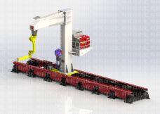 C型倒装机器人行走地轨